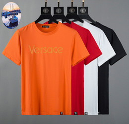 Korean Style Men T Shirts Australia - Summer New Pattern Male Style Short Sleeve designer luxury T-shirt Korean Edition Slim Pure Color Man clothing