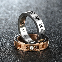 Roman Numerals Ring Wholesale Australia - Crystal Roman Numerals Ring Diamond Numbers Ring Designer Rings Wedding Engagement Rings For Men Women Fashion Jewelry