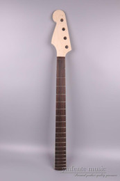 24 Guitar Neck Australia - Electric bass guitar neck 24 fret 34 inch Rosewood Fretboard NO inlay New
