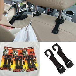 Trucking bag online shopping - 2PCS Plastic Auto Car Truck Suv Shopping Bag Holder Seat Hook Hanger