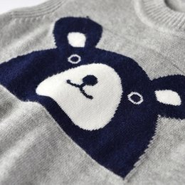 baby boy sleeveless top Australia - Cute Cartoon Boys Knitted Vest Spring Autumn Sleeveless Vest Children Top Clothes Casual Baby Costume Kids Waistcoat For Newborn