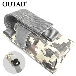 $enCountryForm.capitalKeyWord Australia - OUTAD Outdoor Flashlight Bag Waterproof Nylon Case Pouch Portable Tactical Pouch Small Waist Hunting Bag for Electronic Torch #149268