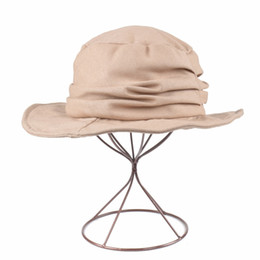 4adc584c Lady Summer Holiday Beach Wide Brim Fisherman Hat 2018 Women Fashion Cotton  and Linen solid Bucket Hat Outdoor Leisure Cap