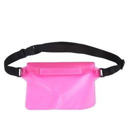$enCountryForm.capitalKeyWord UK - Waterproof Cell Phone Waist Bag Beach Pouch PVC Solid Outdoor Swimming Pocket