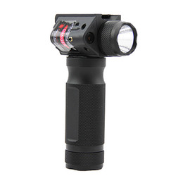 Chinese  Tactical quick detachable vertical grip aluminum gun light flashlight CREE LED torch with red laser manufacturers