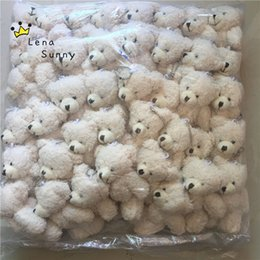 Wholesale ted movie online – design Kawaii Small Joint Teddy Bears Stuffed Plush with Chain CM Toy Teddy Bear Mini Bear Ted Bears Plush Toys Gifts