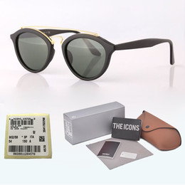Discount double lens glasses brands - Vintage Classic Round Style Sunglasses Double Metal Beams Brand Design Sun Glasses women men Glass lens Oculos De Sol wi