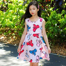 Kids Clothes Size 12 Australia - girls summer princess dress 2018 big girls dresses print kids costume for children clothes size 345 6 7 8 9 10 11 12 13 14 years