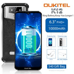 "oukitel smartphone UK - OUKITEL K12 Android 9.0 Mobile Phone 6.3"" 19.5:9 MTK6765 6GB+64GB NFC 10000mAh 5V 6A Quick Charge Fingerprint Smartphone"