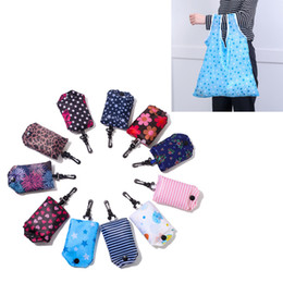 foldable bags totes wholesale Australia - Women Reusable Shopping Bag Foldable Bag Fashion Flower Printing Folding Recycle Handbags Home Organization Tote Bag 29 Style