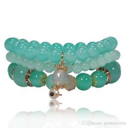Fresh Glasses Australia - New bracelets for women small fresh glass beads bracelets summer fashion bracelets free shipping