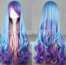 $enCountryForm.capitalKeyWord Australia - LL 619 Fashion Long Charm Lolita Wavy Color Mixed Anime Cosplay wig