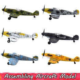 Discount development kits - Colorful Plastic Military Aircraft Toy for Kids Handmade Assembling Model Kits Physical Experiment Intellectual Developm