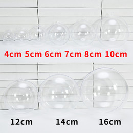 Clear Balls Australia - 4-16cm Clear Christmas Tree Hanging Ball Ornaments Transparent Round Ball Baubles Festival Party Wedding Christmas Decorations Balls