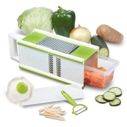 plastic vegetable storage Australia - 5 In 1 Box Grater Vegetable Peeler Handheld Food Shredder Cheese Slicer Storage Container Tool E2S