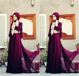 $enCountryForm.capitalKeyWord Australia - 2019 Lace Burgundy Muslim Evening Dresses Long Sleeve Hijab Underscarf Dubai Moroccan Kaftan Plus Size formal dresses Maxi Dress Party
