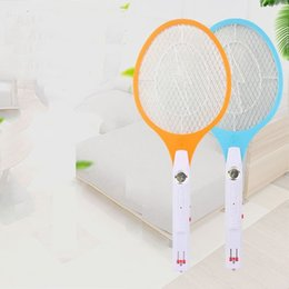 Wholesale LED Electric Mosquito Swatter With layer Safe Net Insect Hand Racket Killer Colors Home Garden Pest Bug Zapper Swatter Pieces ePacket