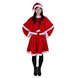Wholesale santa women outfits for sale – custom Christmas Fancy Dress Women Santa Claus Christmas Costume Cosplay Outfit For Xmas Holidays Party CHF