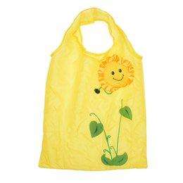 $enCountryForm.capitalKeyWord UK - Cute Cartoon Sunflower Shopping Bag Waterproof Folding Handbag Large Capacity Folding Reusable Storage Bag for Travel