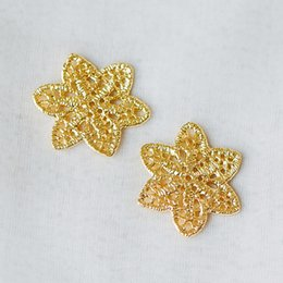 Discount brass connectors - 10pcs Gold Filigree Flower Charm Pendants 25mm, Real Gold plated Brass Connectors with Multi Loops (GB-282)