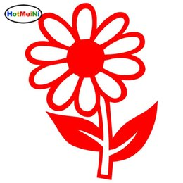 flowers reflective stickers Canada - Wholesale Car Styling Daisy Flower Car Stickers Reflective Vinyl Decals Motorcycle Accessories 9.4*12.7CM