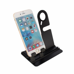 $enCountryForm.capitalKeyWord Australia - Universal Charging Stand for iPhone for iWatch for Samsung Phones Charger Dock Holder Aluminum Phone Holder Black Hot Sale 8