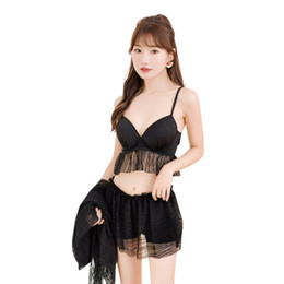 Swimwear Three UK - Women's Three-piece Swimsuit Sexy Bikini Conservative Gathered Swimwear Hot Spring Bathing Suit Swimming Wear Wholesale Retail 7