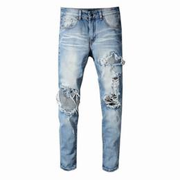 $enCountryForm.capitalKeyWord Australia - SS19 New model AI5 Arrive Skinny Water wash Motorcycle Jeans Desinger single cow thickened Slim paris quality plugs Men jeans