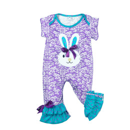 infant baby clothing UK - Conice Nini Wholesale Hot Baby Rompers Newborn Spring Cotton Bunny Clothes Infant Children Easter Party Jumpsuits Gpf712-028 J190524