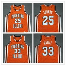 Cheap custom DEON THOMAS KENNY BATTLE Fighting Illinois College Basketball  Jersey Embroidery Stitched Customize any size and name affordable basketball  ... 0d47f0652
