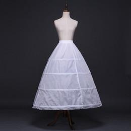 $enCountryForm.capitalKeyWord Australia - New Cheap Long Wedding Bridal Petticoats for Wedding Dress 4 Hoop Ball Gown Crinoline Petticoat Wedding Accessories