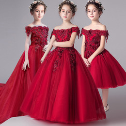 $enCountryForm.capitalKeyWord Australia - Romantic Flower Girl Wedding Bridesmaid Dress 2019 New Bead Long Lace first holy communion Party pageant toddler Little Girls gowns
