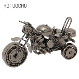 office table plants NZ - Hotuocho Retro Motorcycle Iron Art Tricycle Model Office Decoration Furnishings Home Ornaments Holiday Decoration Table Decor T190709