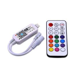 Rgbw Wifi Controller NZ - Wifi RGB   RGBW LED Controller Mini DC12V With RF 21Key   IR 24Key Remote Control For RGB RGBW LED Strip Lights