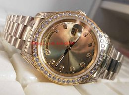 Ladies Gems Australia - Fashion High quality Watch Day-Date Pearlmaster 118348 36mm Diamond 18k Yellow Gold Automatic mechanical Ladies Women's Unisex Watch Watches