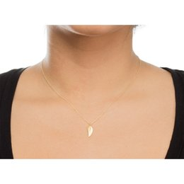 Torques Gold 18k Australia - Fashion Angel Wings Pendant Necklace for Women with Card Gold Silver Color Alloy Clavicle Chain Jewelry-A038