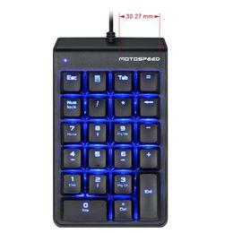 $enCountryForm.capitalKeyWord Australia - Motospeed Red Switch Mechanical Numeric Keypad USB 22keys Mini Numpad for Laptop Numerical Key Pad Wired LED Backlit Keyboard