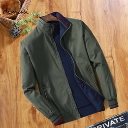 mens reversible jackets NZ - DIMUSI Spring Mens Bomber Jackets Fashion Men Outwear Windbreaker Stand Collar Jacket Man Slim Baseball Reversible Clothing DT191030