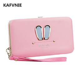 $enCountryForm.capitalKeyWord Australia - Women's Wallet New Rabbit Ears Girl Wallet Red High-quality Pu Style Purse Mobile Phone Bags 2018 Coin Purse Y190701