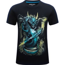 2524b86684b2a 3d shirts 6xl 2019 - 3D Digital Printed Dragon god Men s T-shirt clothing O