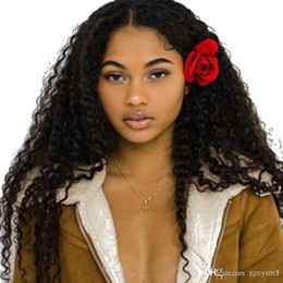 kinky curly upart wigs UK - Curly U Part Wig 180% Density Human Hair Brazilian Virgin Hair Upart Wigs Kinky Curly Middle Part For Black Woman