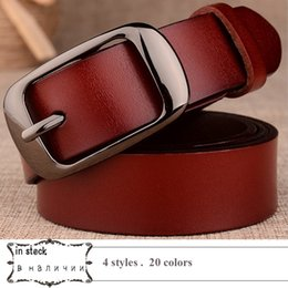 Vintage Car Prints NZ - 2018 Genuine Leather Belt for Women Strap Female Pin Buckle Fashion Vintage Metal Embossing belts C19010301