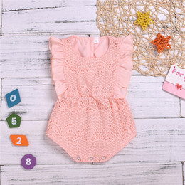 Girls Casual Lace Jumpsuit Australia - Summer Baby kids clothes Casual Pink Sleeveless lace Romper Jumpsuits Baby crawling clothes kids designer clothes girls JY364