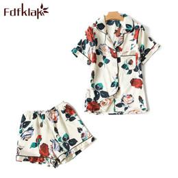 $enCountryForm.capitalKeyWord Australia - Fdfklak Summer Short Sleeve Print Pajamas For Women Pijama Sexy Night Suits Ladies Sleep Wear Pyjama Set Home Clothes M-xxlq1249 J190712