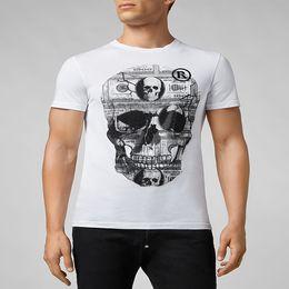 Crystals skulls online shopping - skulls t shirt mens cotton P brand short sleeve hip hop tops tee High Quality print luxury clothing Punk crystal designer t shirt M XL