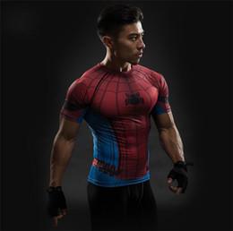 $enCountryForm.capitalKeyWord NZ - Free Shipping Short Sleeve 3D T Shirt Men T-Shirt Male Crossfit Tee Captain America t shirt Men Fitness Compression Shirt 4XL J4
