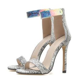 cc175a841dbb Serpentine Sexy Open Toe Women Sandals Colorful Transparent Plastic High Heels  Sandals Thin High Heels Back Zipper Party Shoes