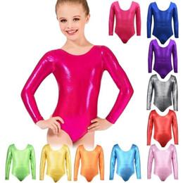 5147ec765b667 Girls Gymnastics Long Sleeve Leotard Dress Child's Ballet Stretchy Yoga  Fitness Dance Wear Clothes Size 3-11 Years