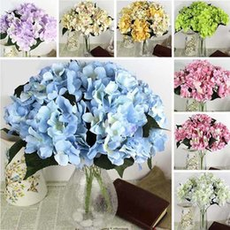 fake white hydrangea flowers NZ - 7 Heads Decor Fake Flowers Real Flowers Bouquet Artificial Various Colors Hydrangea Flowers Wedding Party Floral