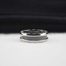Silver 925 Ceramics Ring Women Men Handmade Rings Valentine'S Day Gifts For Man Thin Lover Rings